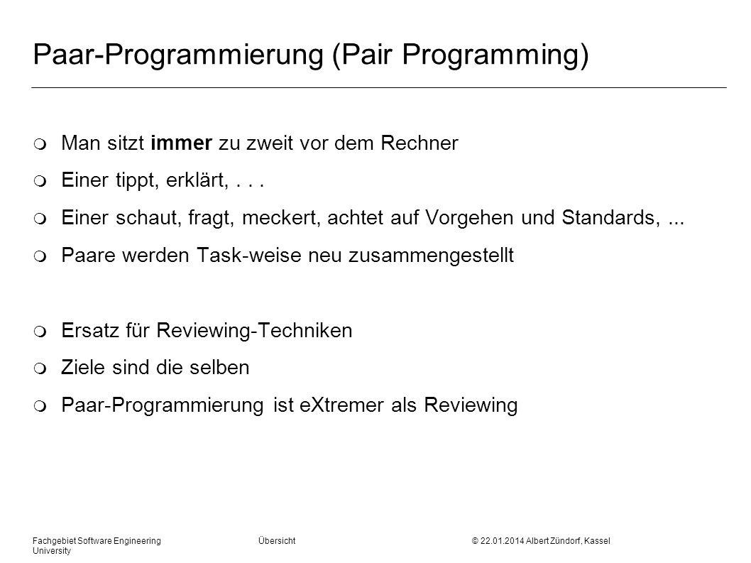 Paar-Programmierung (Pair Programming)