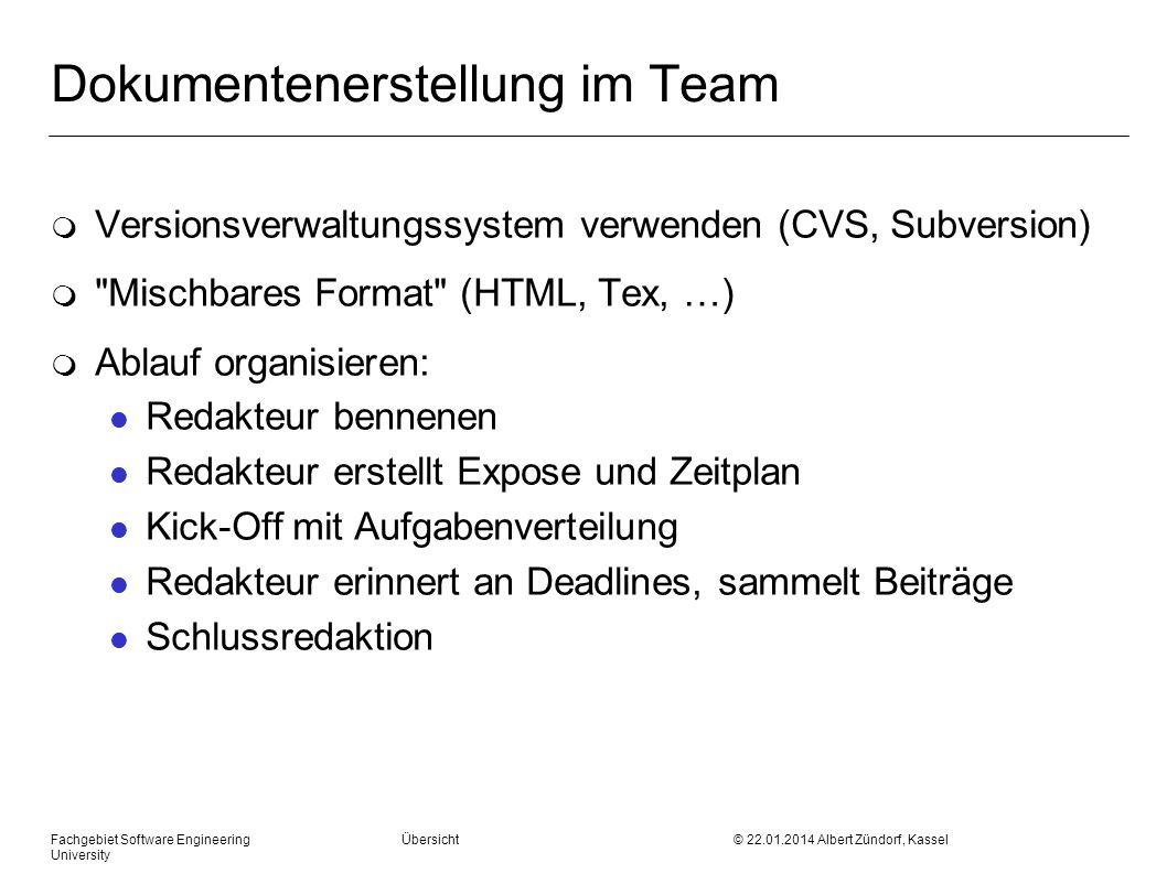 Dokumentenerstellung im Team