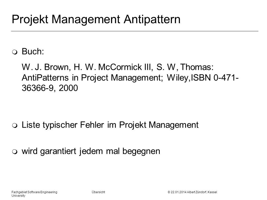 Projekt Management Antipattern