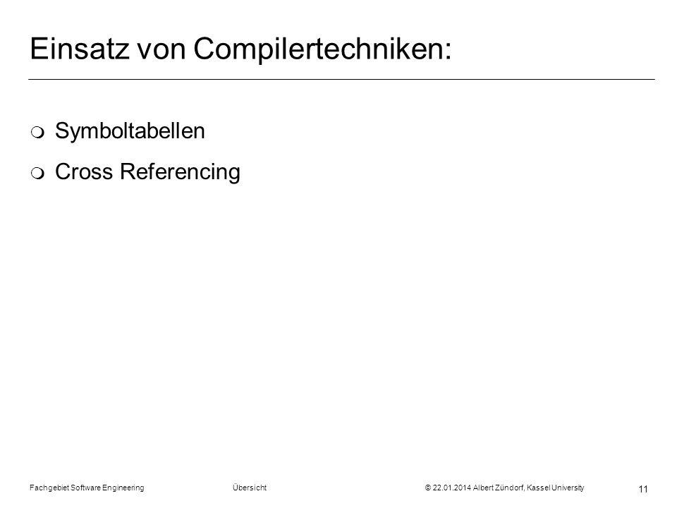 Einsatz von Compilertechniken: