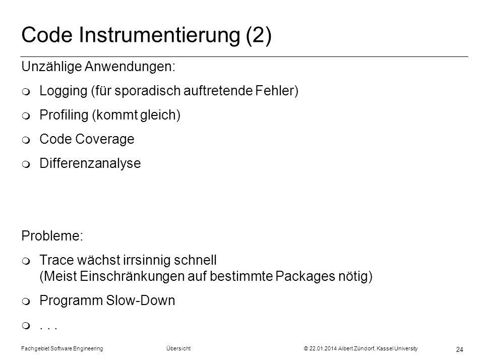 Code Instrumentierung (2)