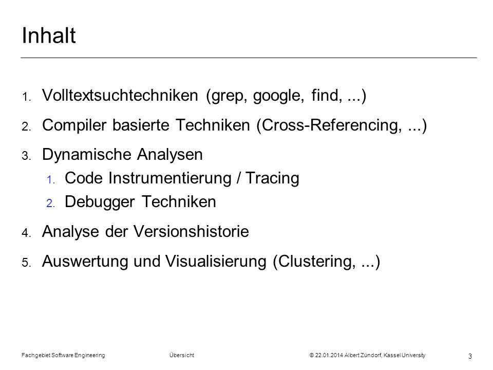 Inhalt Volltextsuchtechniken (grep, google, find, ...)