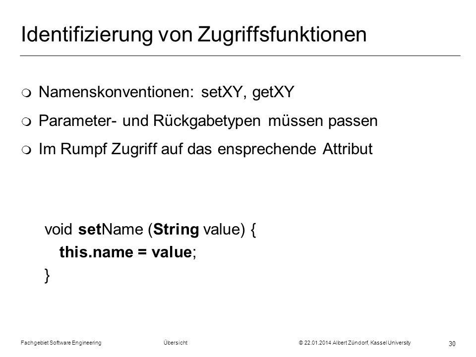 Identifizierung von Zugriffsfunktionen