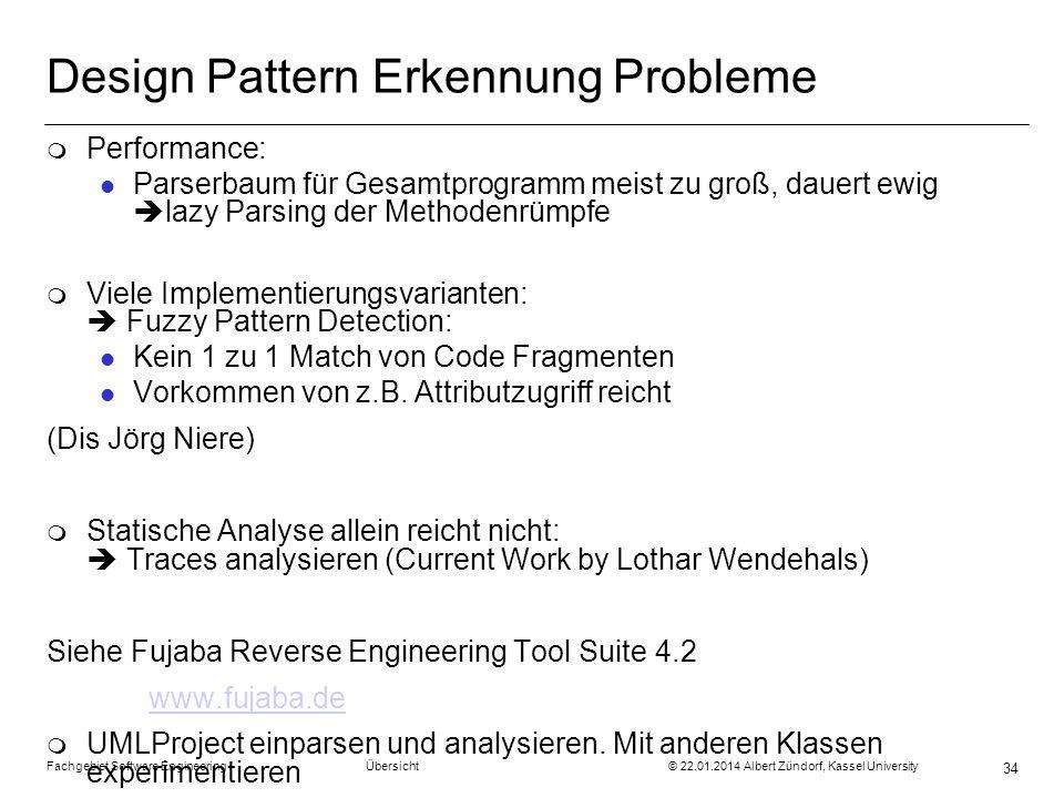 Design Pattern Erkennung Probleme