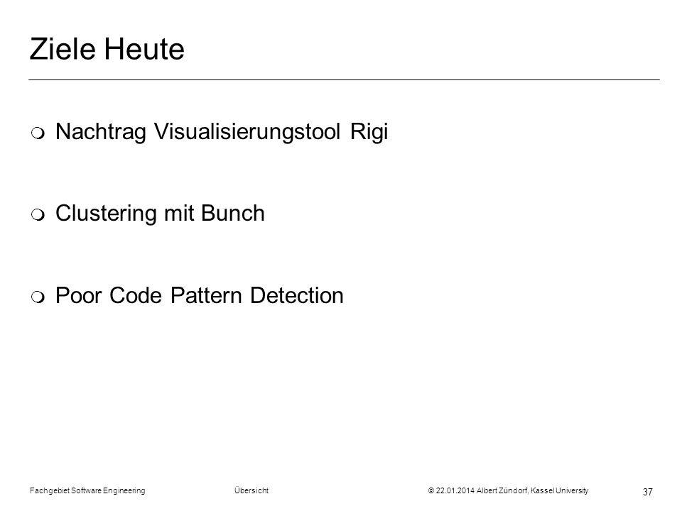 Ziele Heute Nachtrag Visualisierungstool Rigi Clustering mit Bunch