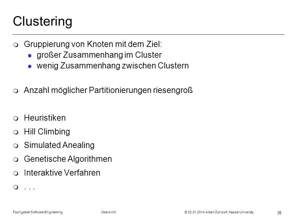 Clustering Gruppierung von Knoten mit dem Ziel:
