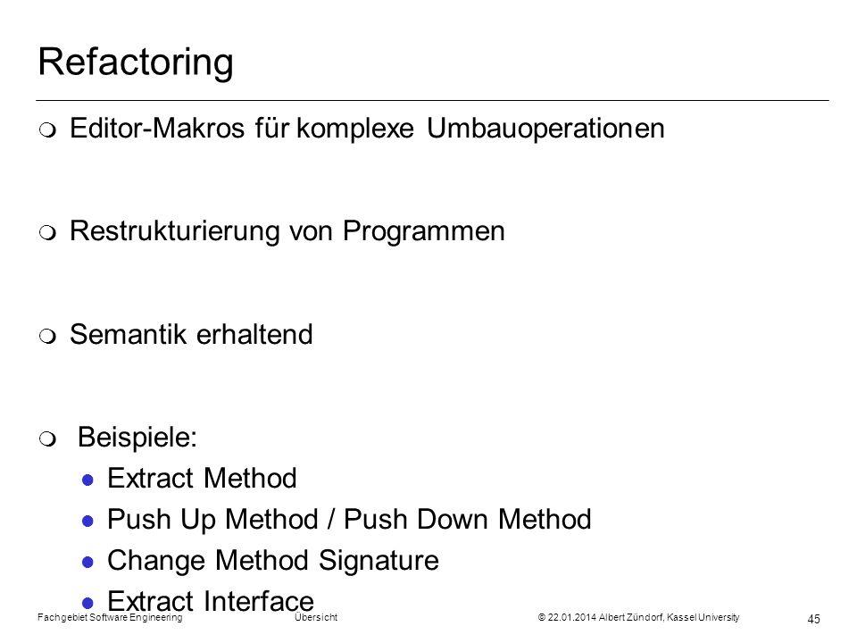 Refactoring Editor-Makros für komplexe Umbauoperationen