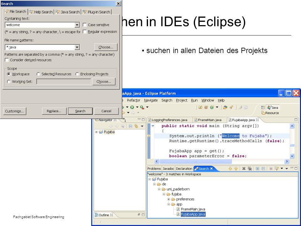 Suchen in IDEs (Eclipse)