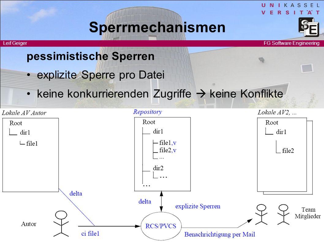 Sperrmechanismen pessimistische Sperren • explizite Sperre pro Datei