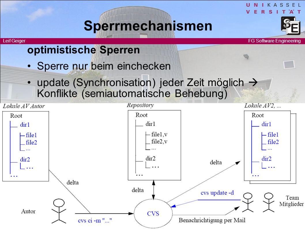 Sperrmechanismen optimistische Sperren • Sperre nur beim einchecken