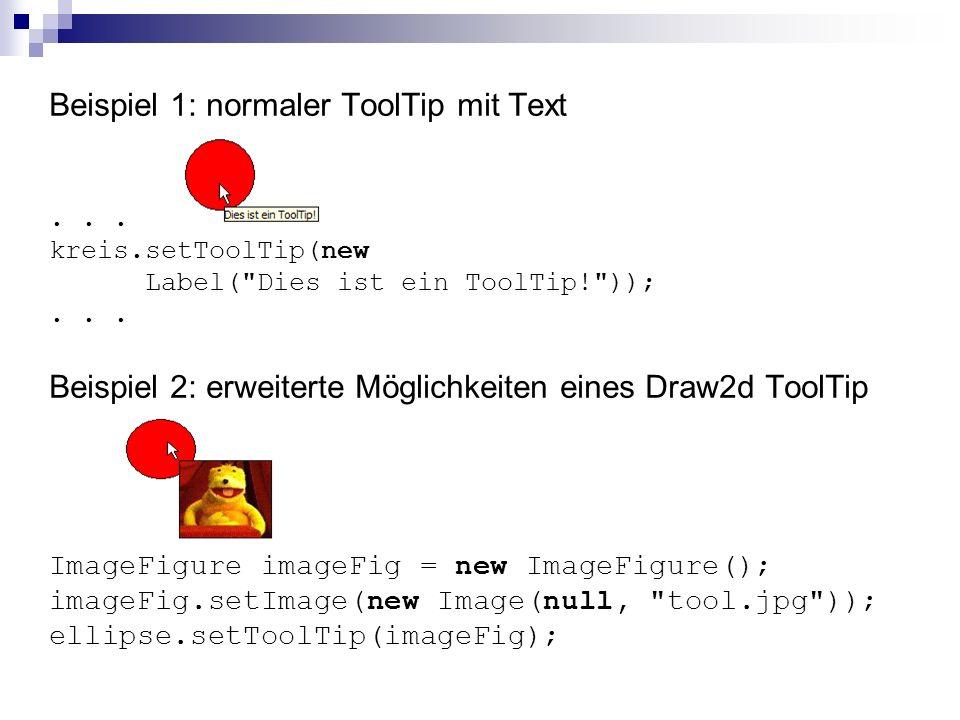 Beispiel 1: normaler ToolTip mit Text