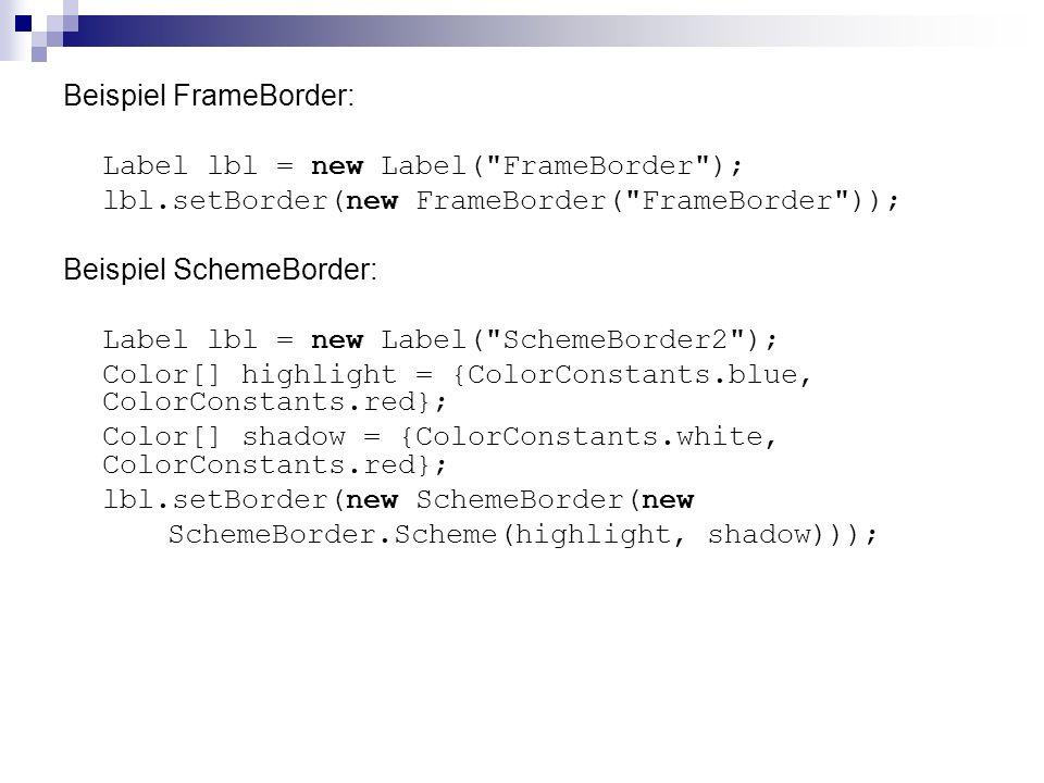 Beispiel FrameBorder: