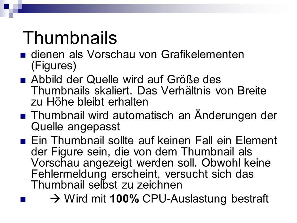 Thumbnails dienen als Vorschau von Grafikelementen (Figures)
