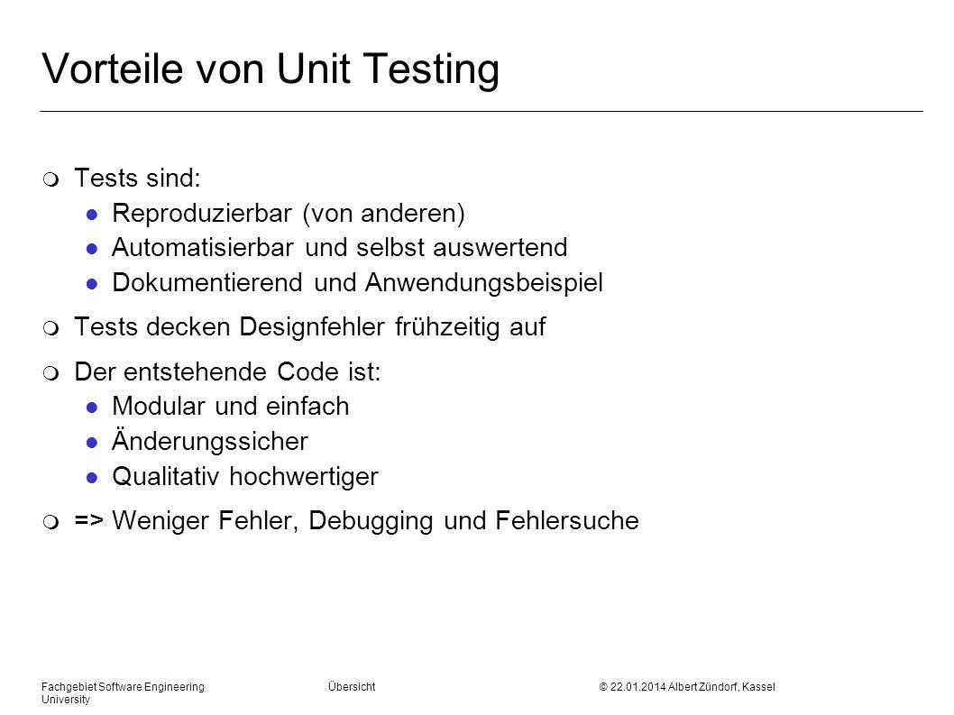 Vorteile von Unit Testing