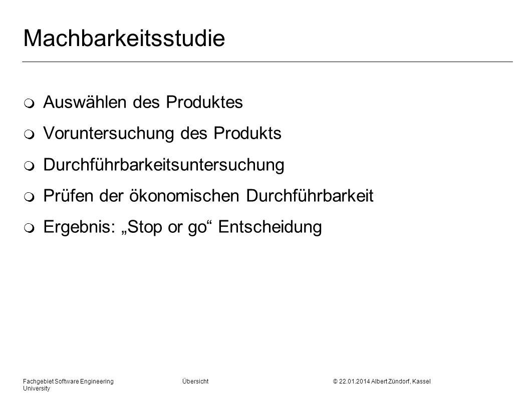 Machbarkeitsstudie Auswählen des Produktes
