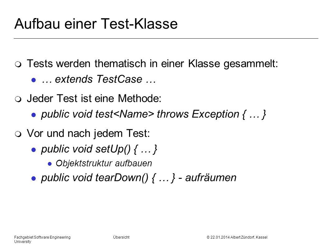 Aufbau einer Test-Klasse