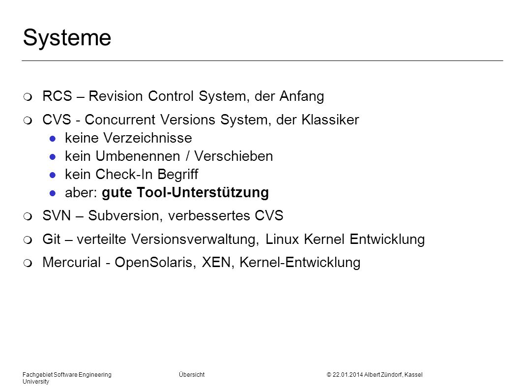 Systeme RCS – Revision Control System, der Anfang
