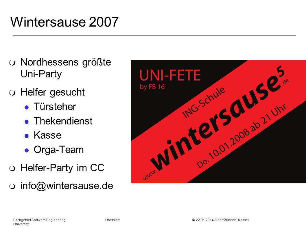 Wintersause 2007 Nordhessens größte Uni-Party Helfer gesucht Türsteher