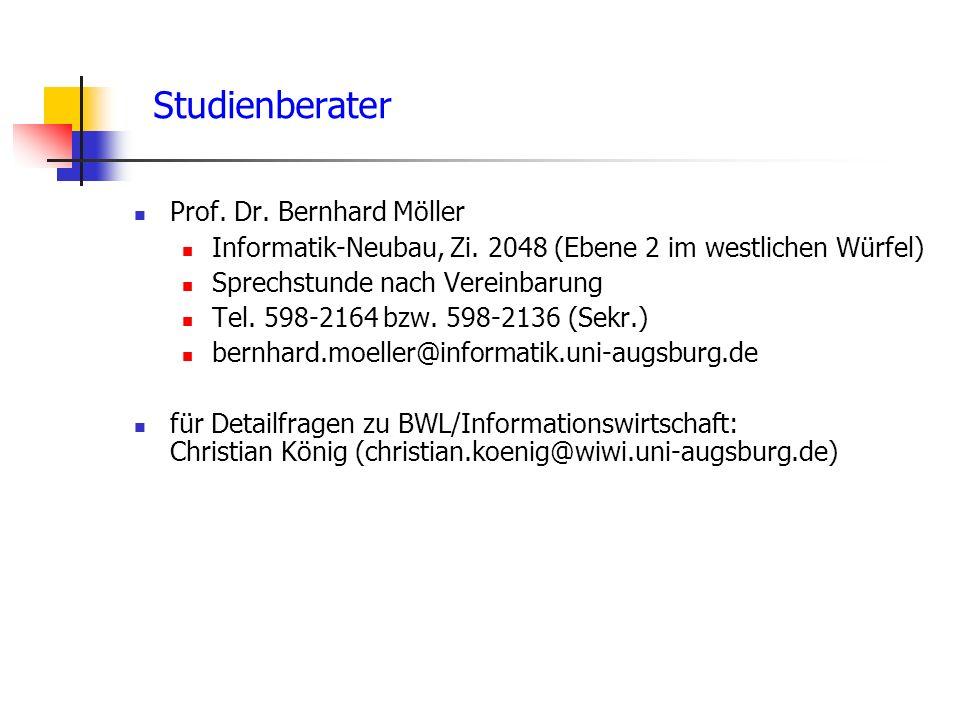 Studienberater Prof. Dr. Bernhard Möller