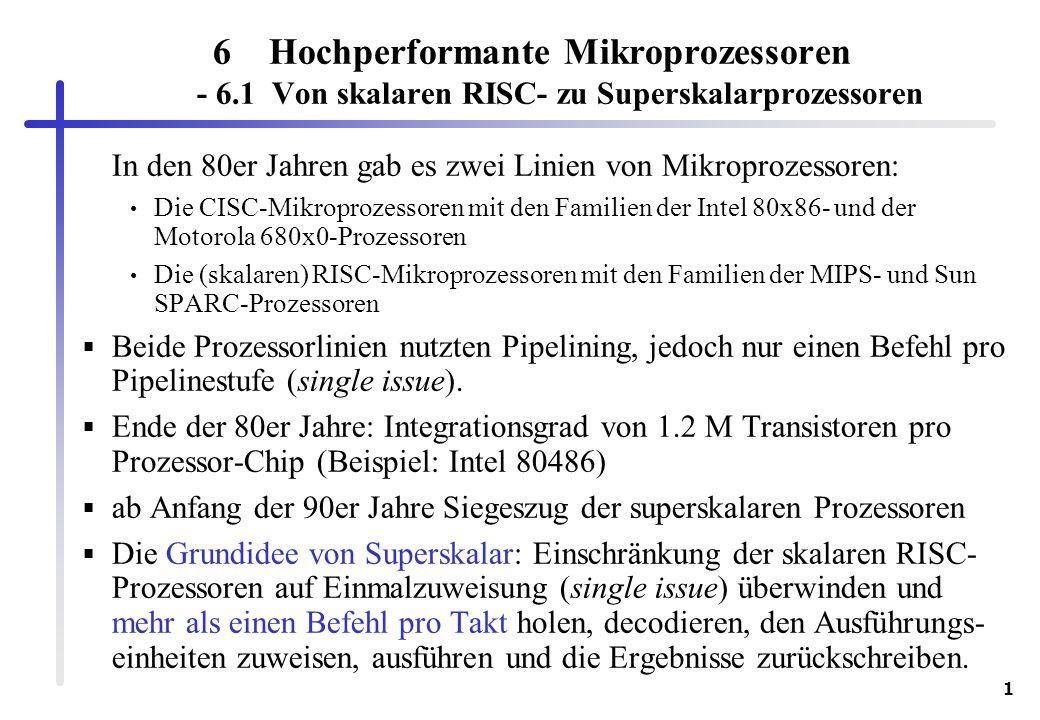 Hochperformante Mikroprozessoren - 6