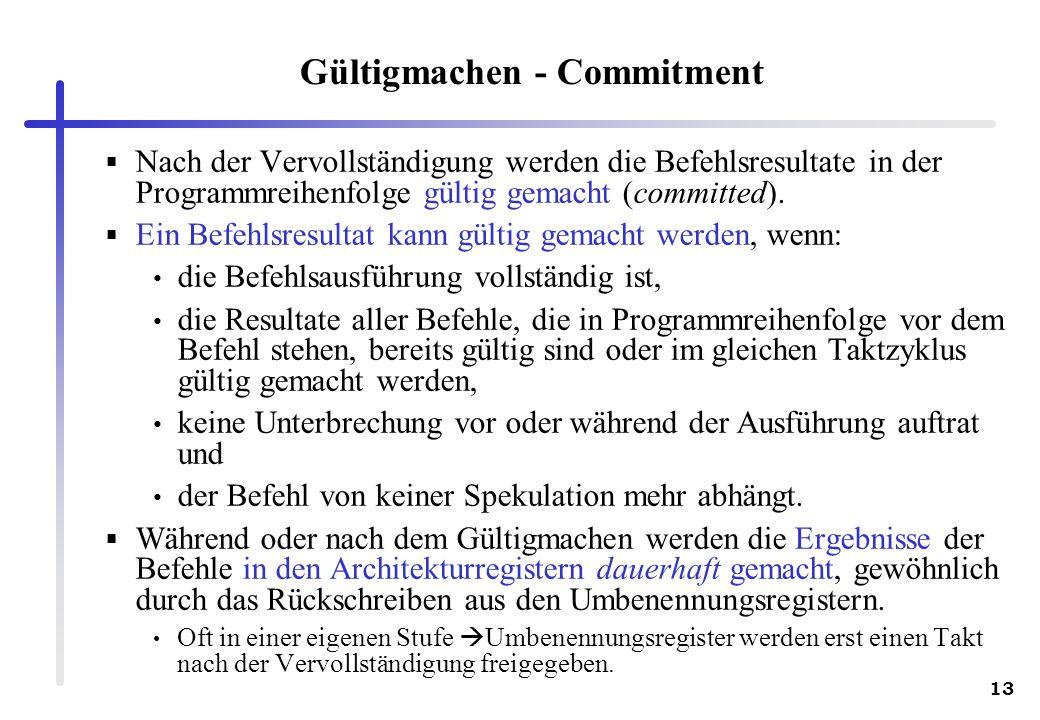 Gültigmachen - Commitment