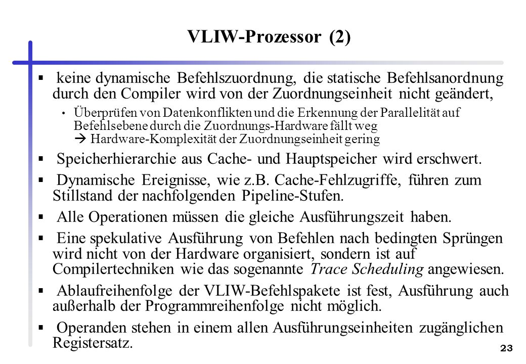 VLIW-Prozessor (2)