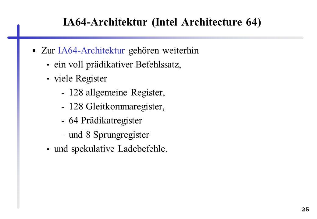 IA64-Architektur (Intel Architecture 64)
