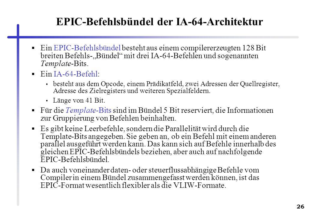 EPIC-Befehlsbündel der IA-64-Architektur