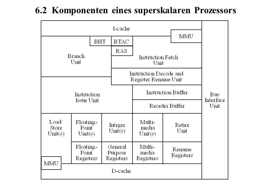 6.2 Komponenten eines superskalaren Prozessors