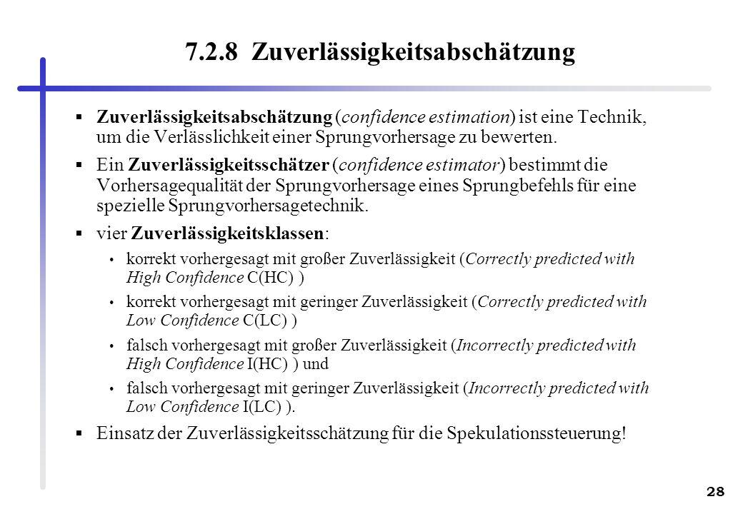 7.2.8 Zuverlässigkeitsabschätzung