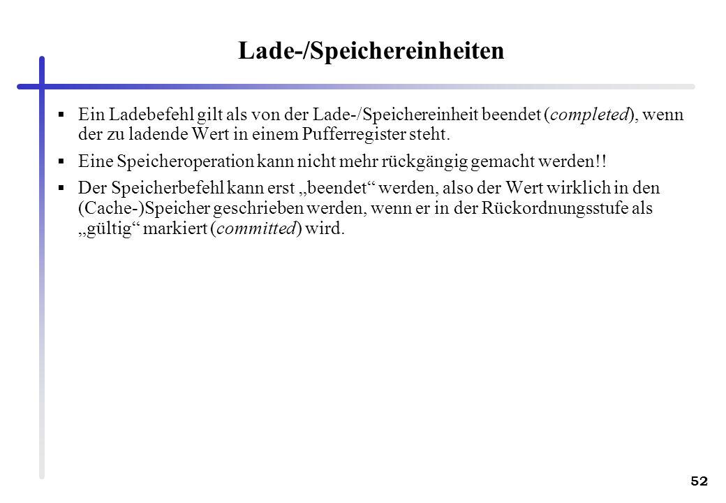 Lade-/Speichereinheiten