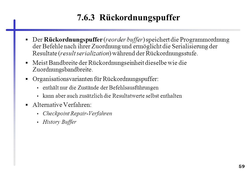 7.6.3 Rückordnungspuffer