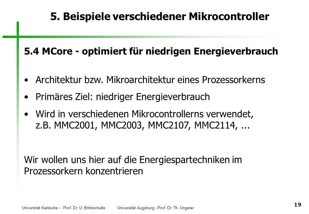 5. Beispiele verschiedener Mikrocontroller
