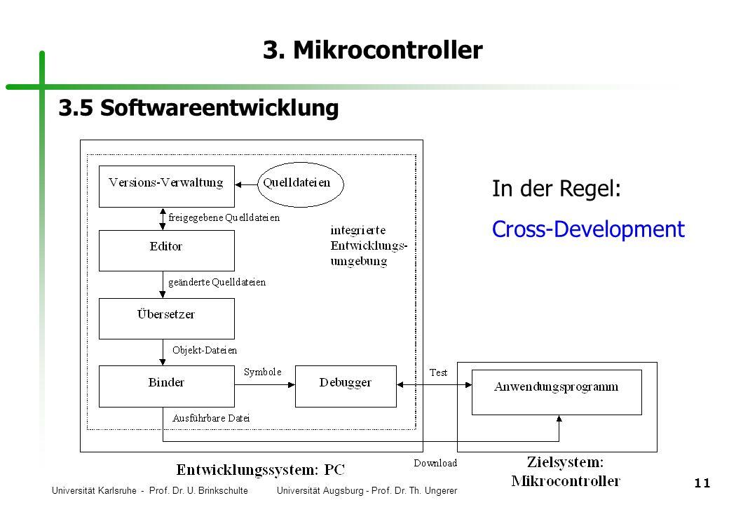 3. Mikrocontroller 3.5 Softwareentwicklung In der Regel: