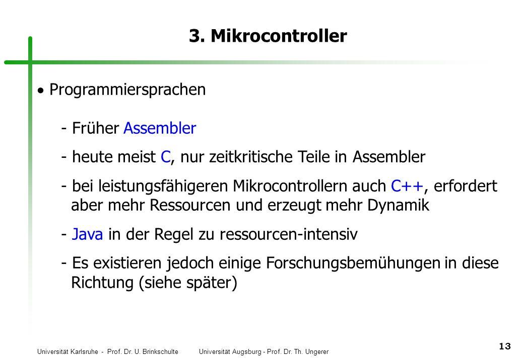 3. Mikrocontroller Programmiersprachen Früher Assembler