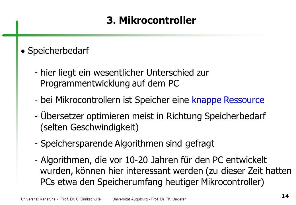 3. Mikrocontroller Speicherbedarf