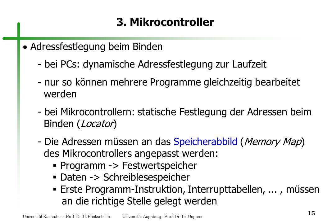 3. Mikrocontroller Adressfestlegung beim Binden