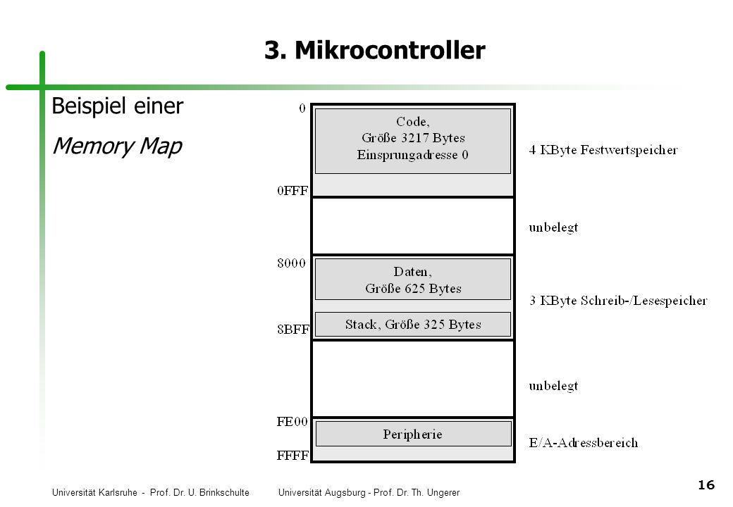 3. Mikrocontroller Beispiel einer Memory Map