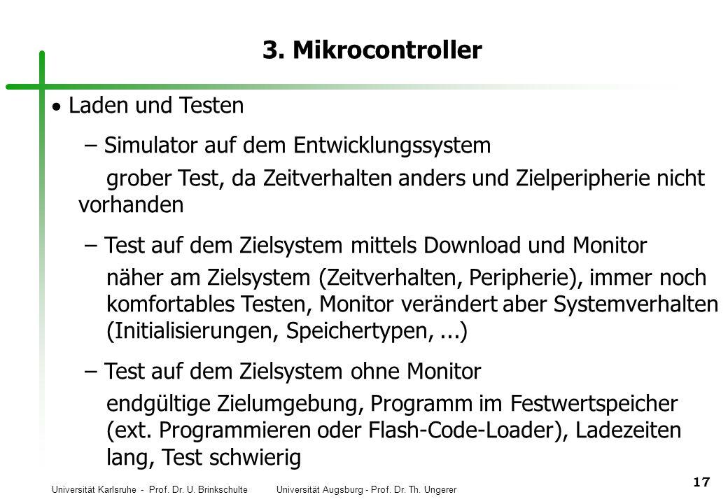 3. Mikrocontroller Laden und Testen