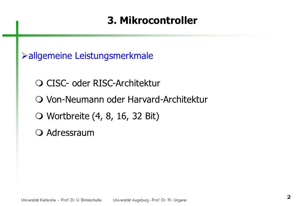 3. Mikrocontroller allgemeine Leistungsmerkmale