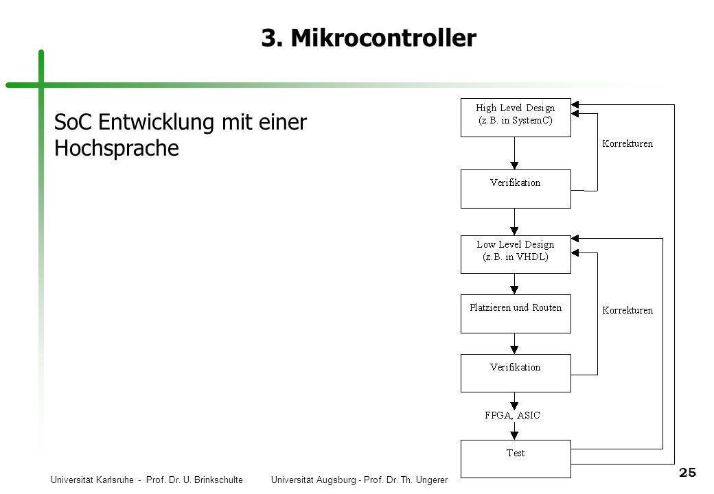 3. Mikrocontroller SoC Entwicklung mit einer Hochsprache