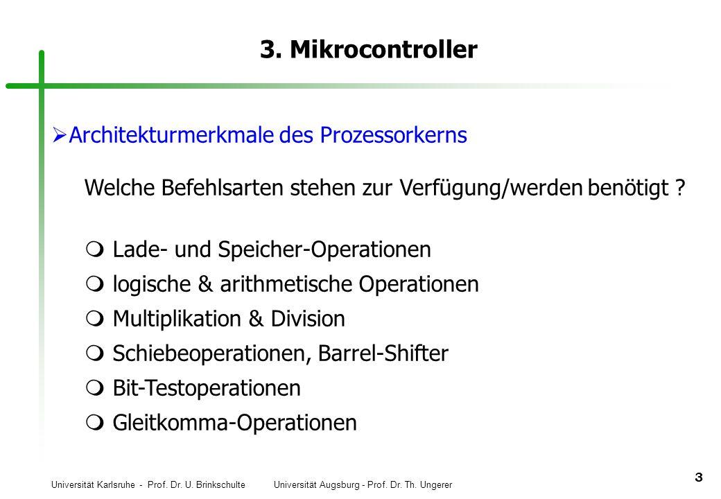 3. Mikrocontroller Architekturmerkmale des Prozessorkerns