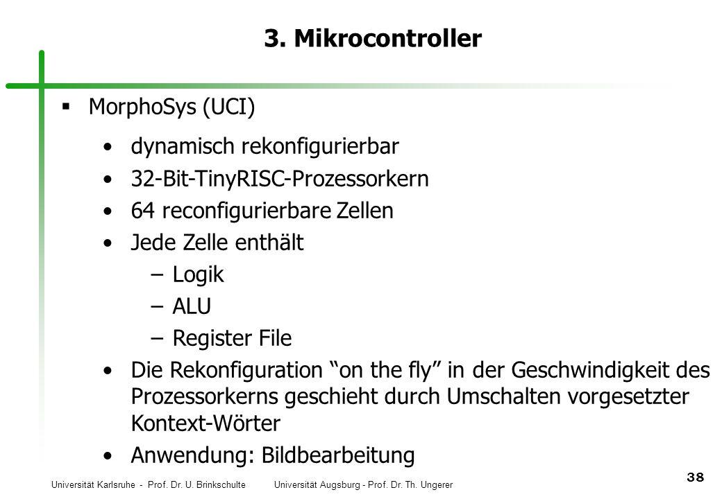 3. Mikrocontroller MorphoSys (UCI) dynamisch rekonfigurierbar
