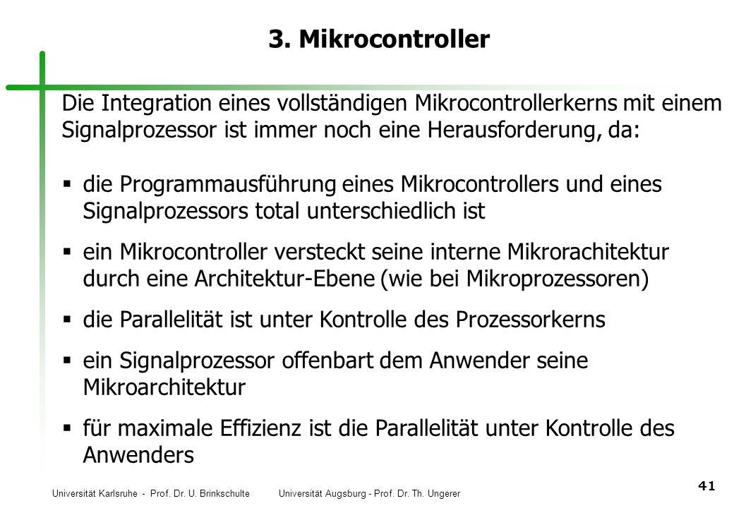 3. Mikrocontroller Die Integration eines vollständigen Mikrocontrollerkerns mit einem. Signalprozessor ist immer noch eine Herausforderung, da: