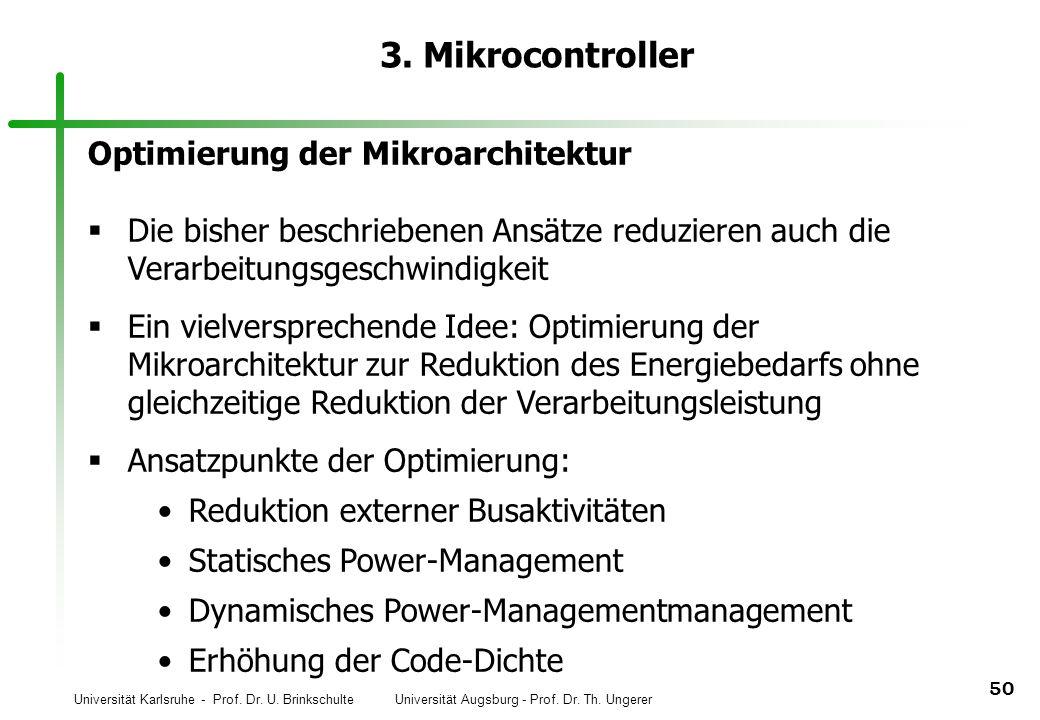 3. Mikrocontroller Optimierung der Mikroarchitektur