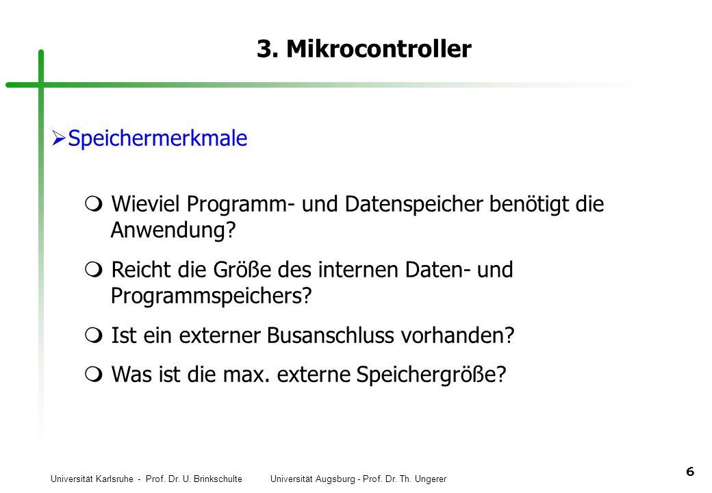 3. Mikrocontroller Speichermerkmale
