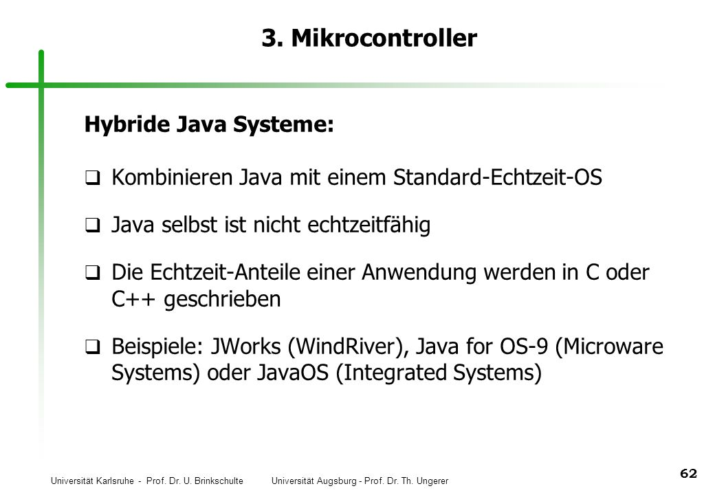 3. Mikrocontroller Hybride Java Systeme: