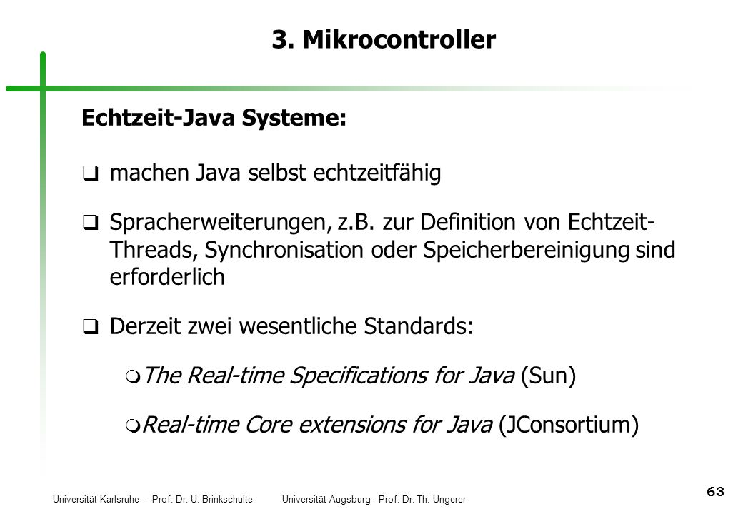3. Mikrocontroller Echtzeit-Java Systeme: