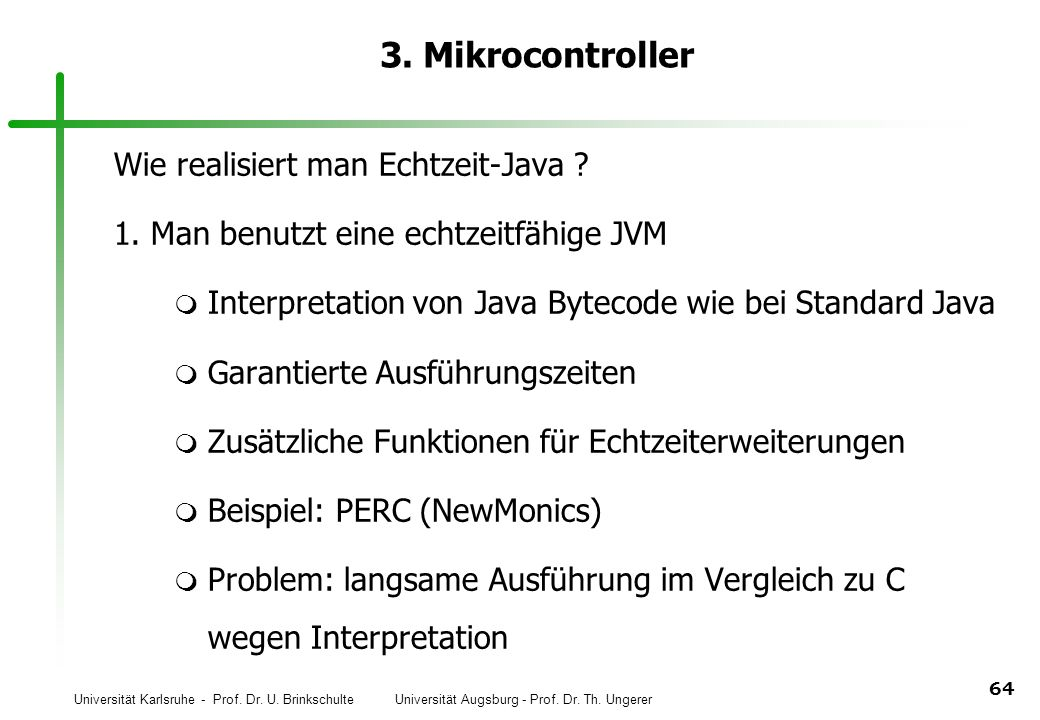 3. Mikrocontroller Wie realisiert man Echtzeit-Java