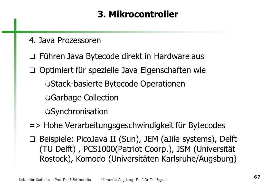 3. Mikrocontroller 4. Java Prozessoren